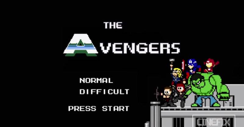 ロックマンなキャラクターで『アベンジャーズ』を再現!