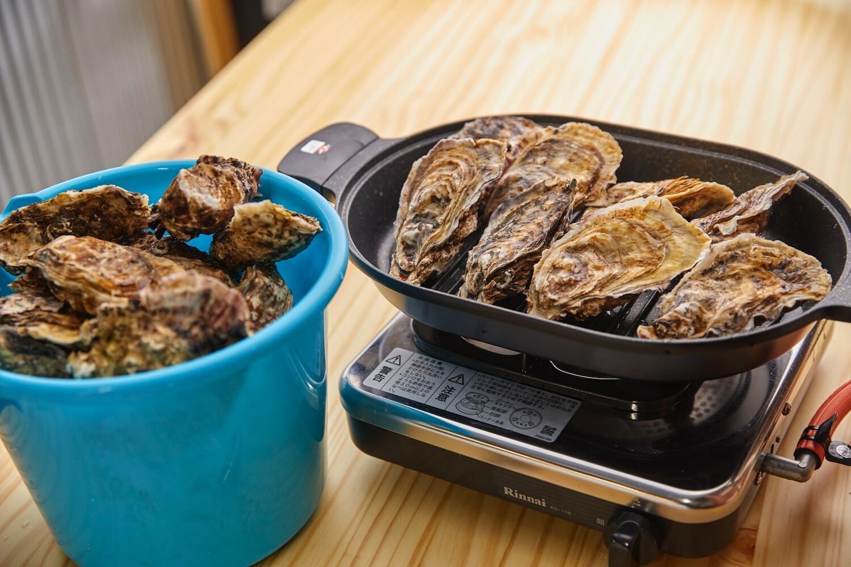 鳥羽の海女小屋十八屋の焼き牡蠣セット